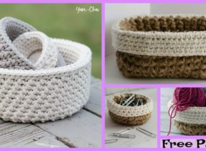 Crochet Mini Nesting Baskets – Free Patterns