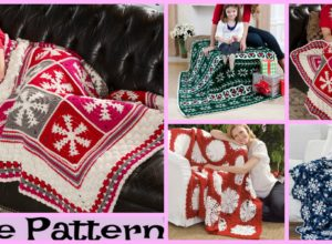 Crochet Snowflake Throw – Free Patterns