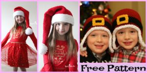 diy4ever-Cute Crochet Santa Hat - Free Patterns