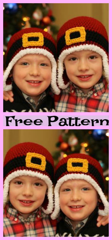 diy4ever-Cute Crochet Santa Hat - Free Patterns