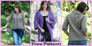 diy4ever-Pretty Knit Leaf Coat - Free Patterns