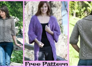 Pretty Knit Leaf Coat – Free Patterns