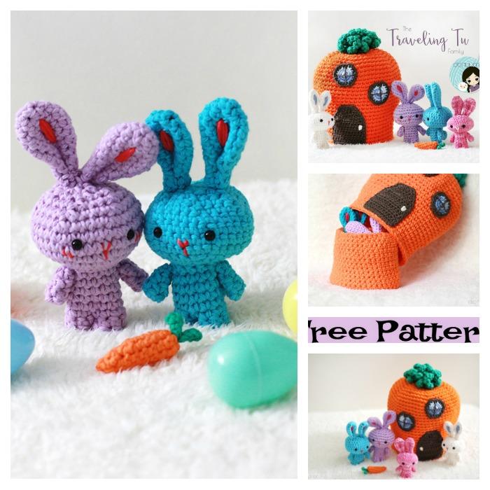 Crochet Little diy4ever-Amigurumi Bunnies - Free Patterns