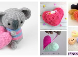 5 Sweet Crochet Heart Amigurumi Free Patterns