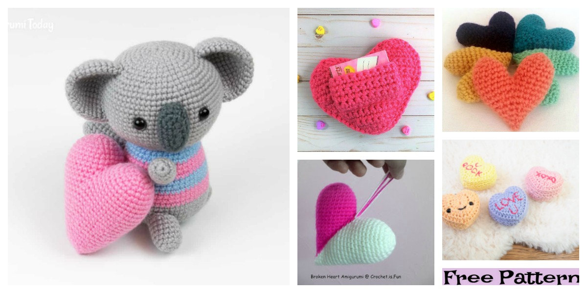 Pop Heart - Free amigurumi pattern | 600x1200
