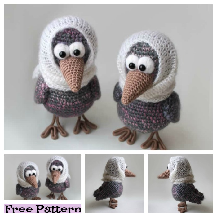 diy4ever-8 Crochet Amigurumi Birds - Free Patterns