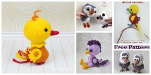 diy4ever-8 Crochet Amigurumi Birds - Free Patterns