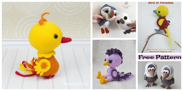 8 Crochet Amigurumi Birds – Free Patterns