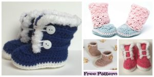 diy4ever-Crochet Baby Booties - Free Patterns