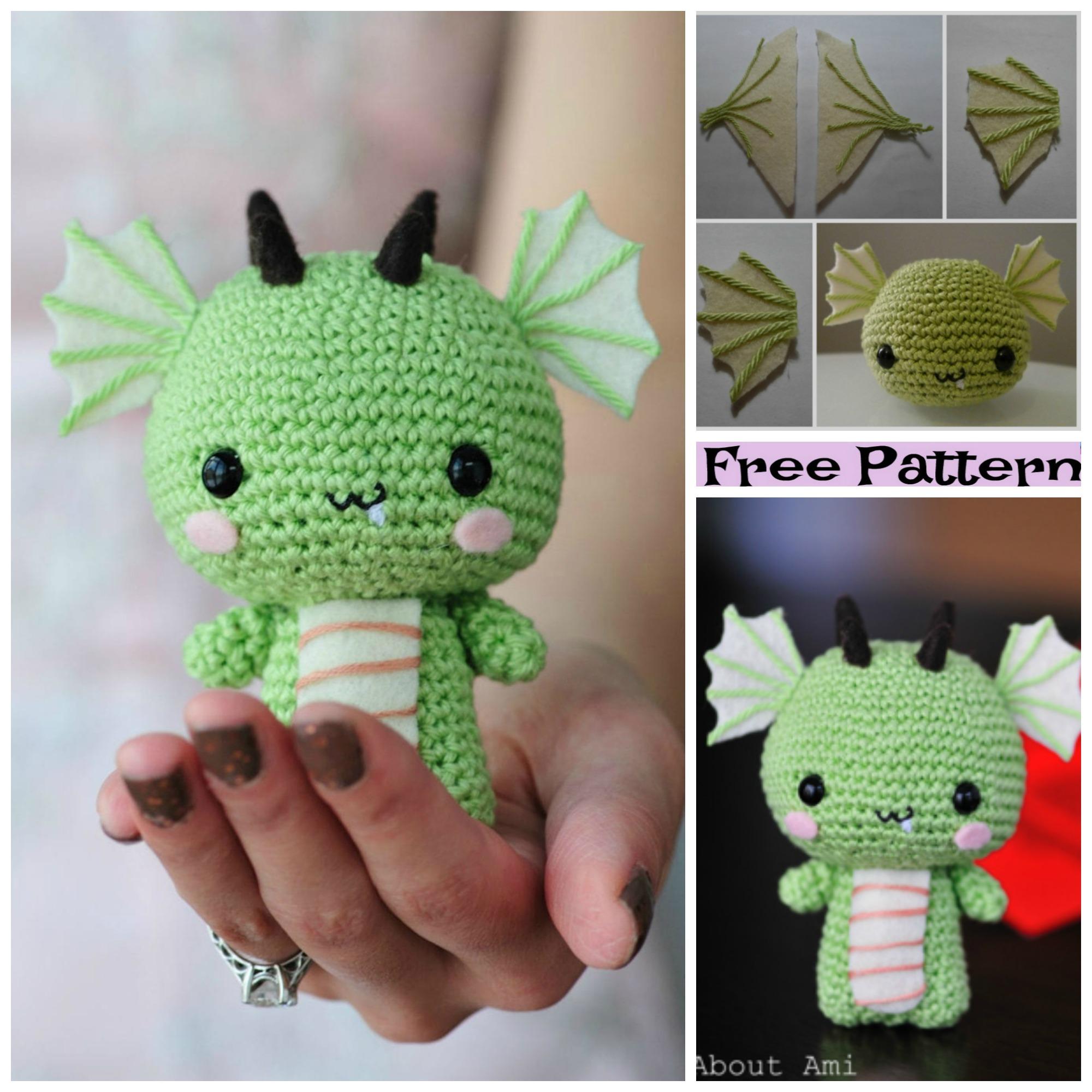diy4ever-Crochet Dragon Amigurumi - Free Pattern