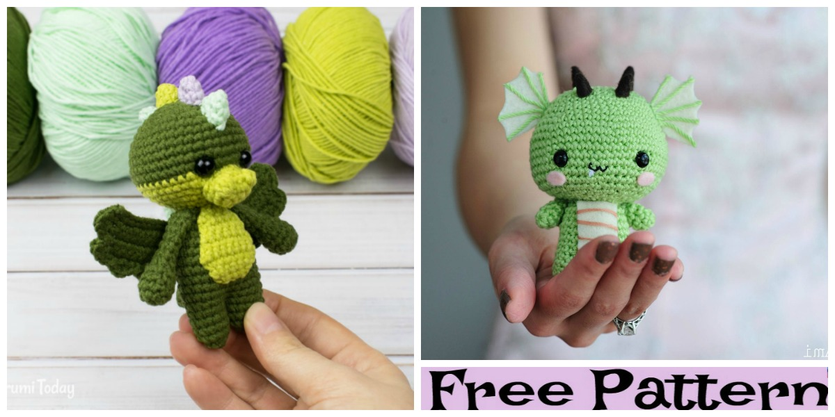 Crochet Dragon Amigurumi Free Pattern Diy 4 Ever