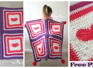 Crochet Heart Blanket – Free Pattern