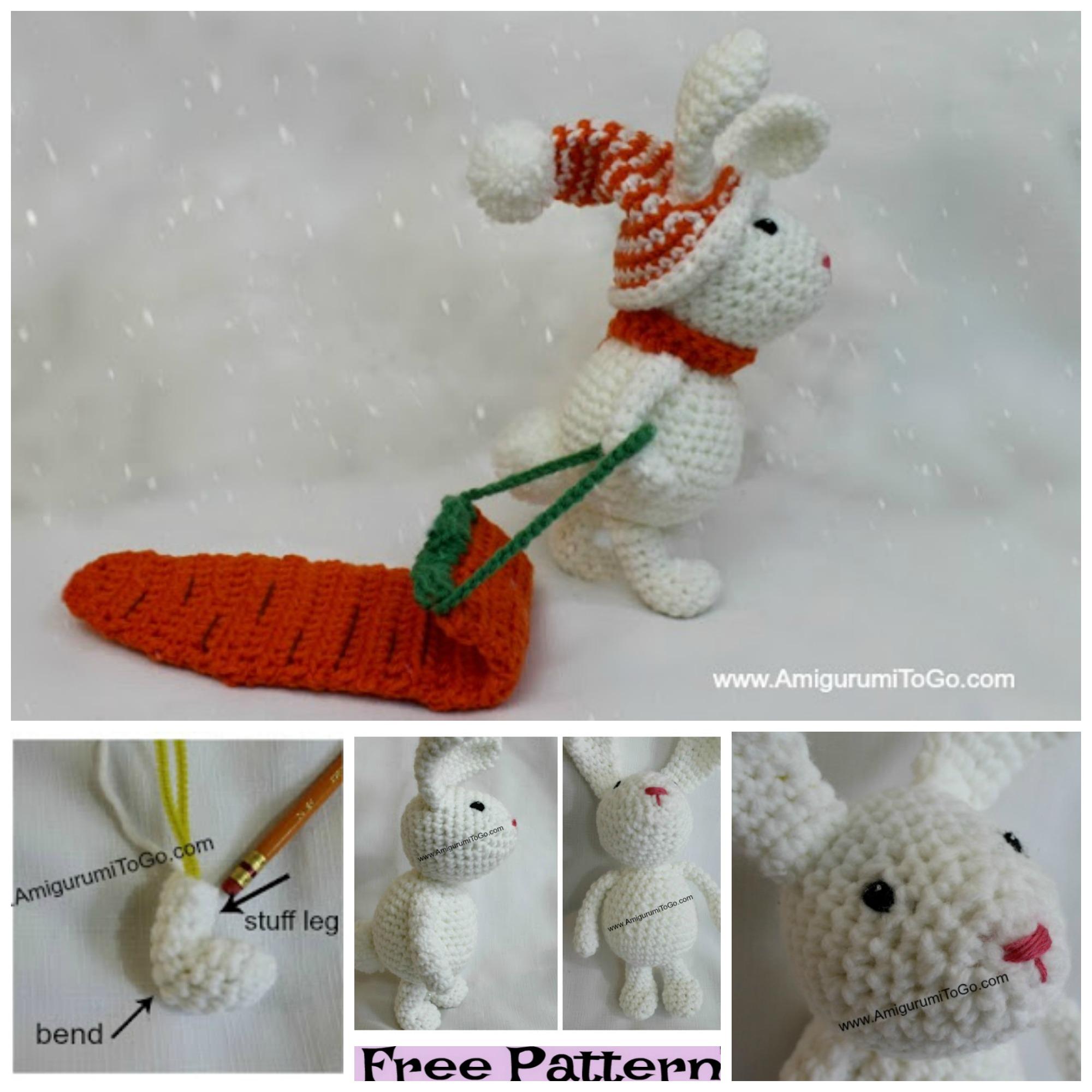 diy4ever-Crochet Snow Bunny - Free Patterns
