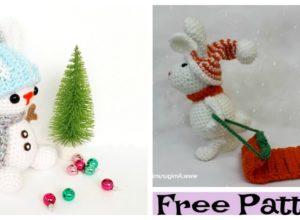 Adorable Crochet Snow Bunny – Free Patterns