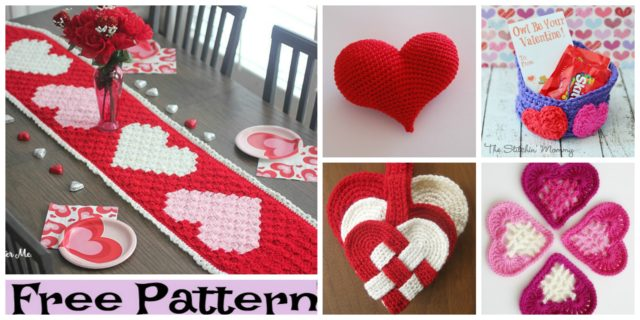Crochet Valentine's Hearts – Free Patterns