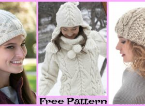 Knit Cozy Cable Hats – Free Patterns