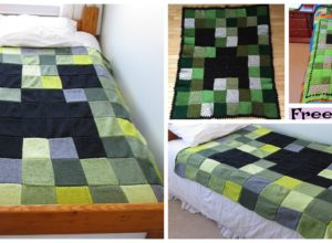 Minecraft Creeper Blanket – Free Patterns