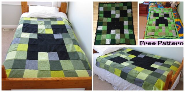 Minecraft Creeper Blanket – Free Patterns