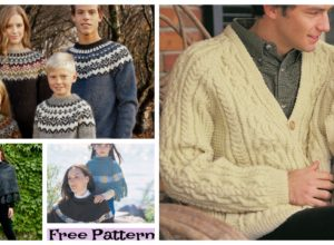 Unique Knit Family Look – Free Patterns