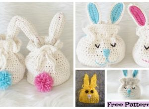 Crochet Bunny Treat Bags – Free Patterns
