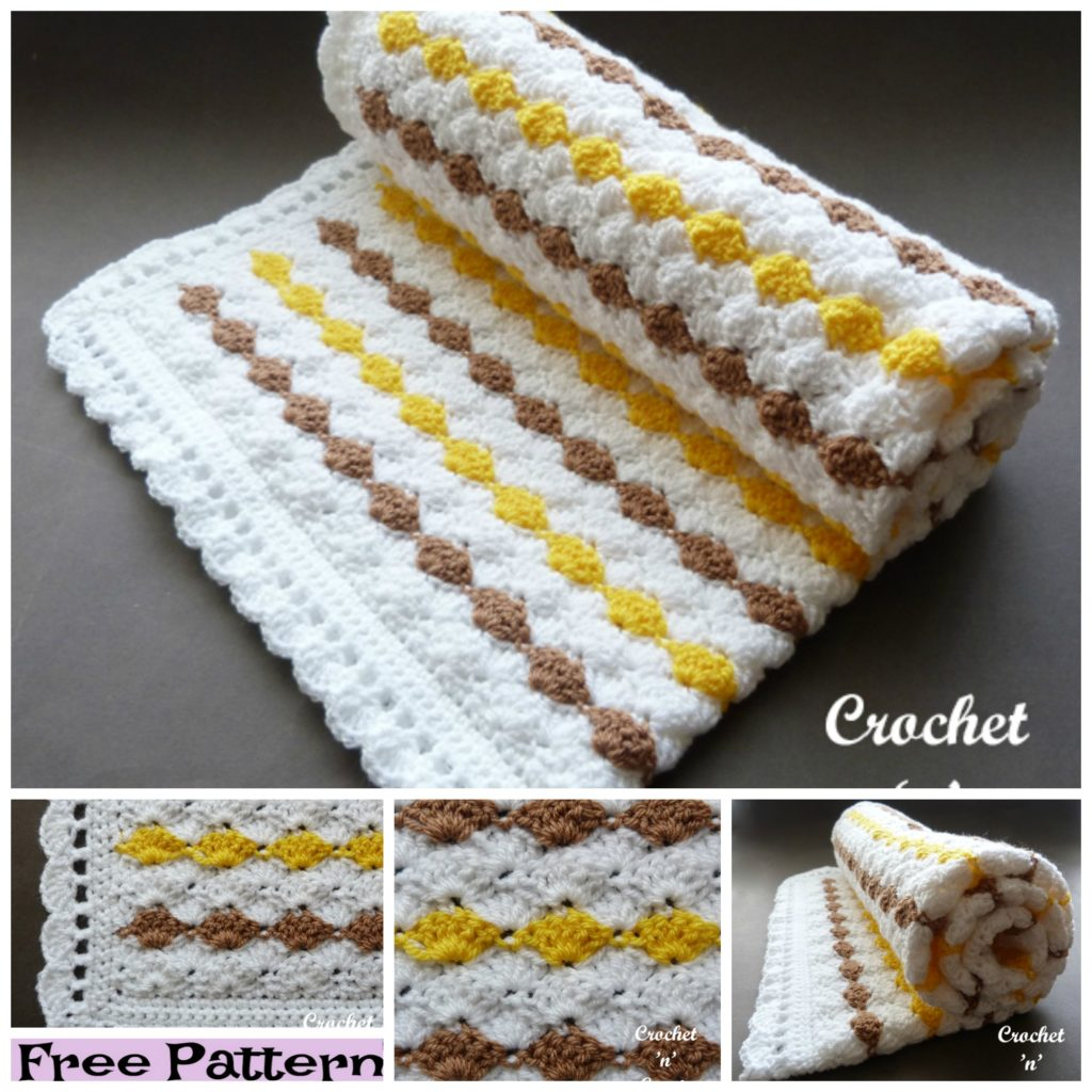 diy4ever-6 Cozy Crochet Baby Blanket Free Patterns