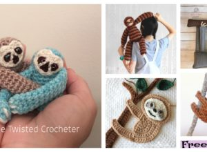 6 Crochet Sloth Amigurumi  Free Patterns