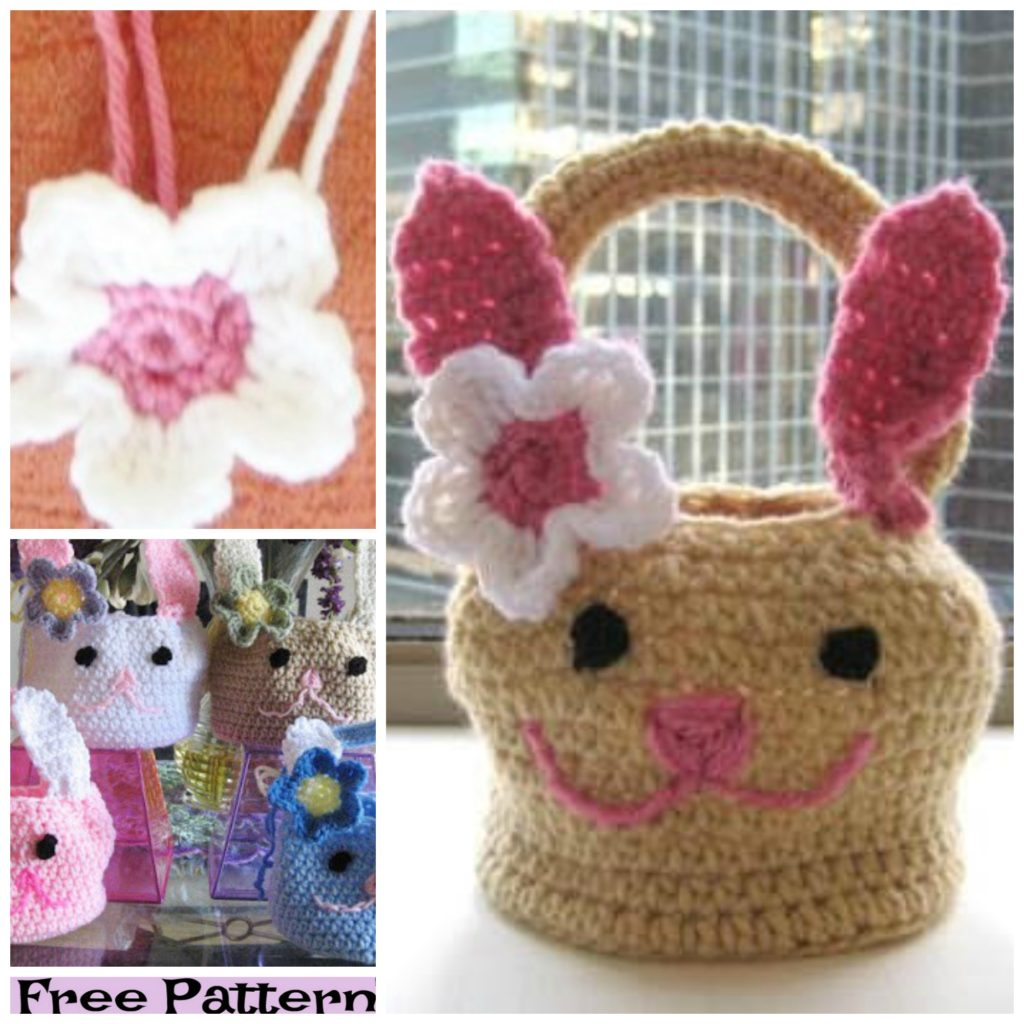 diy4ever-8 Crochet Easter Egg baskets- Free Patterns