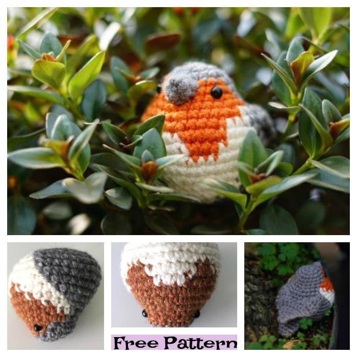 diy4ever-Adorable Crochet Bird Amigurumi - Free Patterns