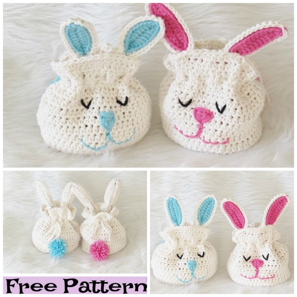 Crochet Bunny Treat Bags - Free Patterns