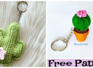 Crochet Cactus Keychain Free Patterns