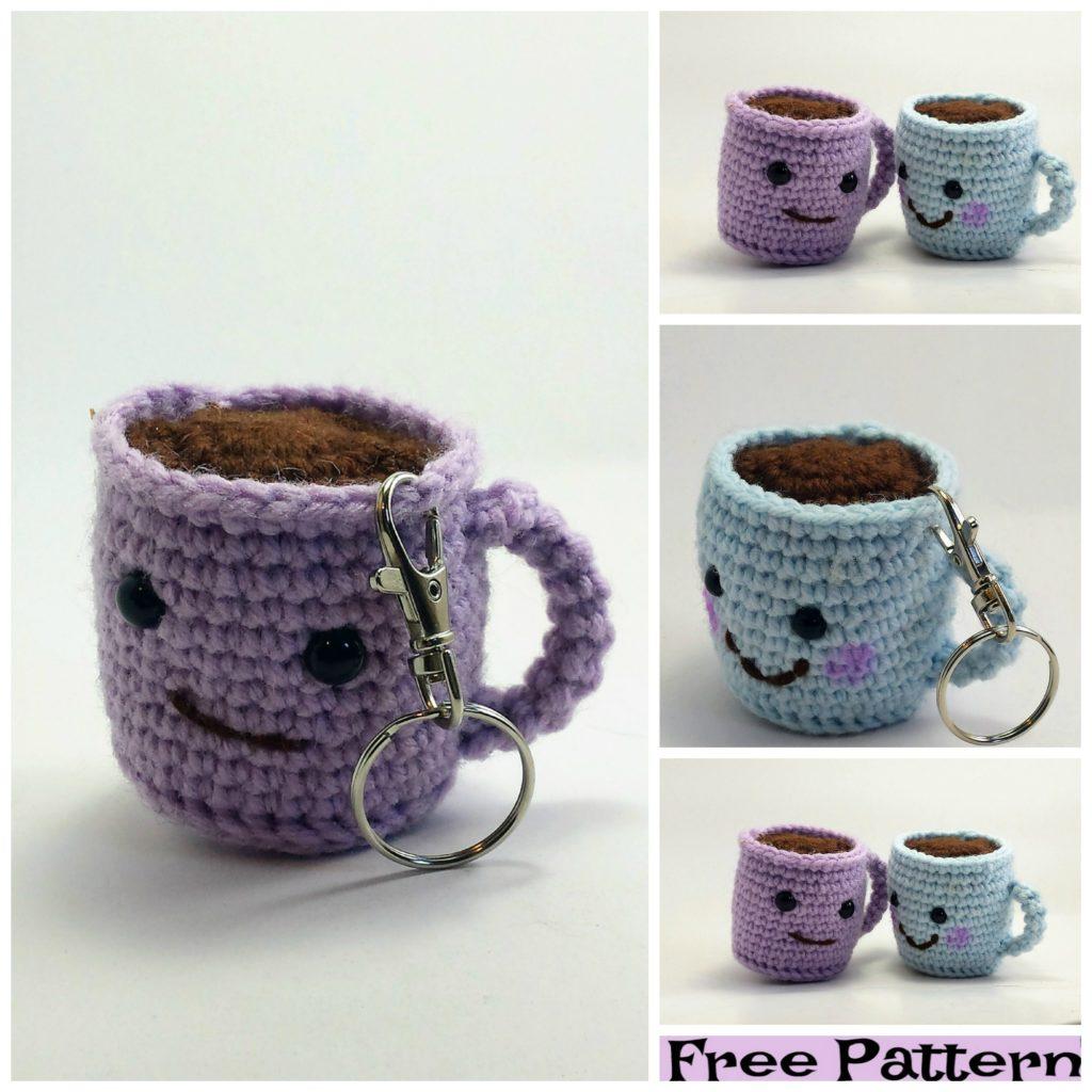 diy4ever-Crochet Coffee Cup Amigurumi - Free Patterns