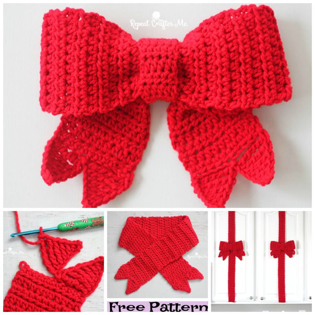 diy4ever- Crochet Gift Bow Free Patterns