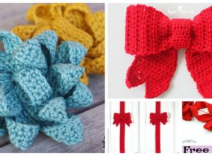 Pretty Crochet Gift Bow Free Patterns