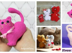 Crochet Kitty Heart Amigurumi – Free Patterns