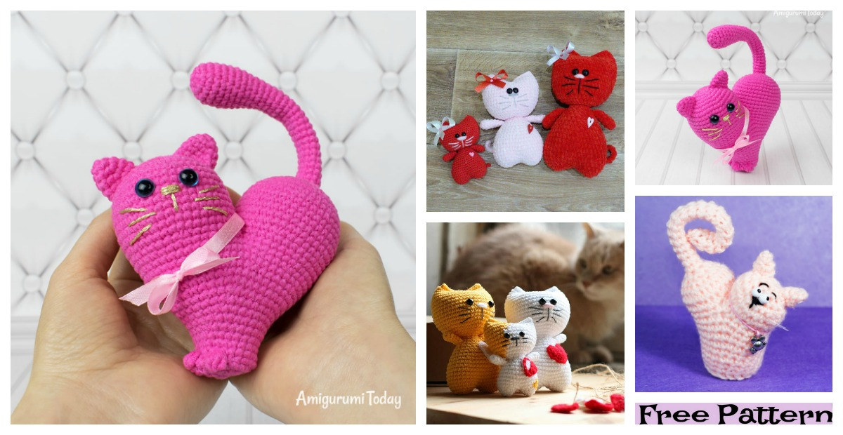 Amigurumi Love Heart Free Crochet Pattern | 620x1200