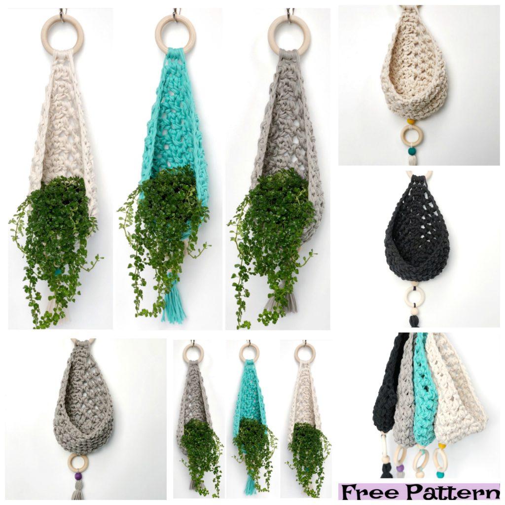 diy4ever-Crochet Plant Hanger  Free Patterns