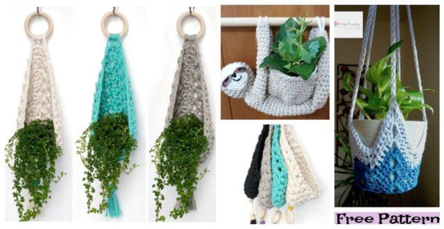 Crochet Plant Hanger  Free Patterns