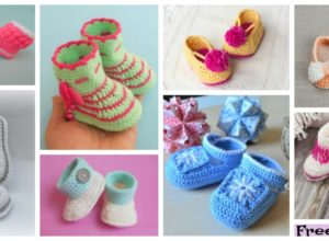 10 Cutest Crocheted Baby Booties – Free Patterns
