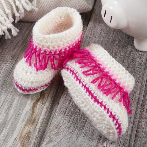 diy4ever-10 Cutest Crocheted Baby Booties - Free Patterns