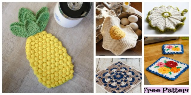 6 Pretty Crochet Hot Pads – Free Patterns