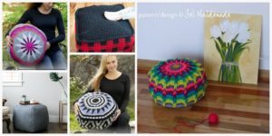 Crochet Home Floor Poufs Patterns