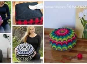 Crochet Home Floor Poufs – Free Patterns
