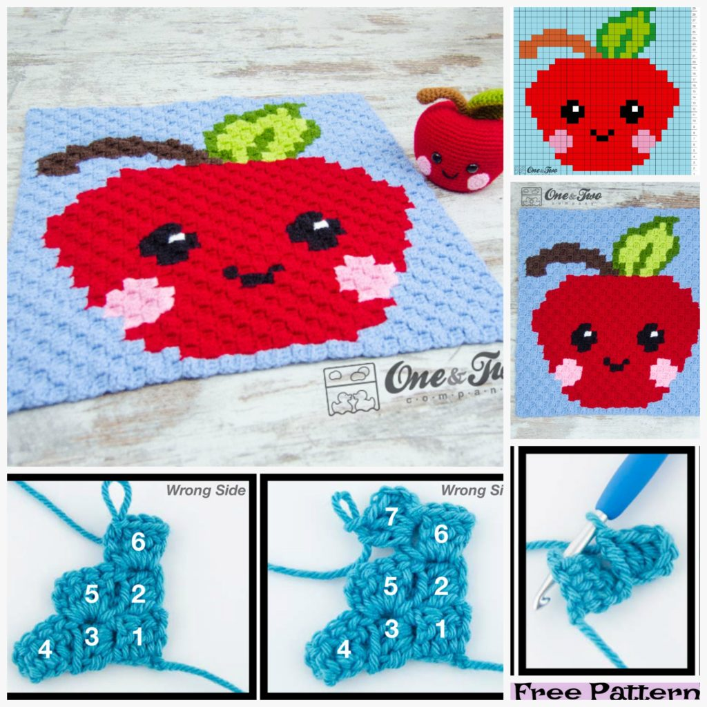 diy4ever-Cute Crochet Apple Free Patterns
