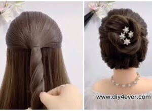 Simple Elegant DIY Bun Hairstyle