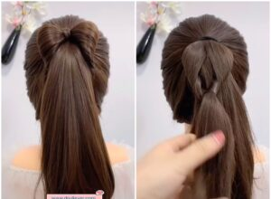 Cute Bow Ponytail Hairstyle Tutorial