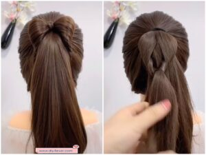 diy4ever-DIY Cute Bow Ponytail