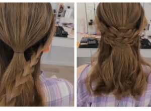 Daily Braid Hairstyle Tutorial ( Video 0094)