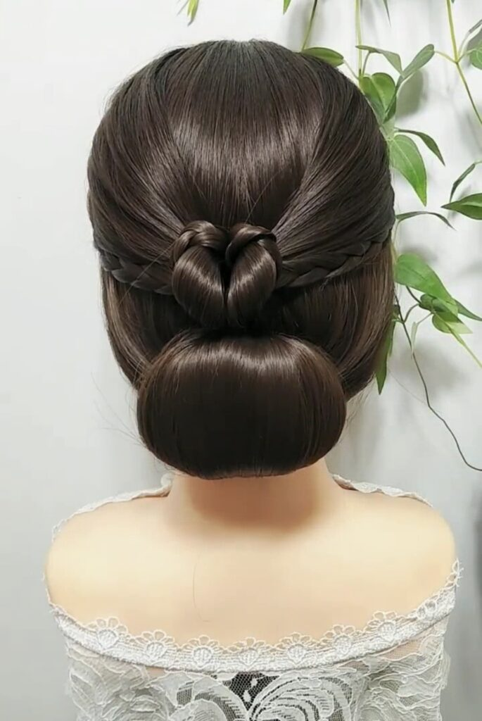 Heart Bun Hairstyle Tutorial