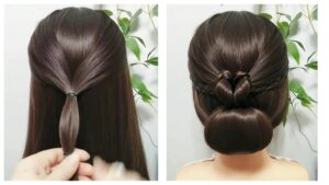 Heart Bun Hairstyle Tutorial