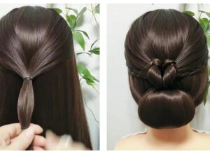 Heart Bun Hairstyle Tutorial ( Video 0093)